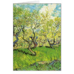 Orchard in Blossom Vincent van Gogh Greeting Cards