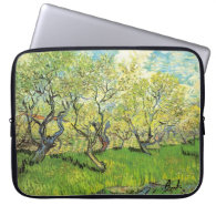 Orchard in Blossom, Vincent van Gogh Laptop Sleeves