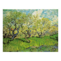 Orchard in Blossom, Vincent van Gogh Print