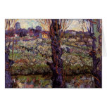 Orchard in Blossom with View of Arles by van Gogh Greeting Card