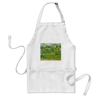 Orchard In Pontoise By Paul Cézanne (Best Quality) Adult Apron