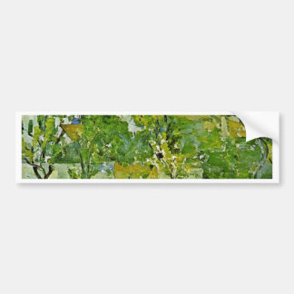 Orchard In Pontoise By Paul Cézanne (Best Quality) Car Bumper Sticker