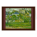 Orchard In Pontoise By Paul Cézanne (Best Quality) Card