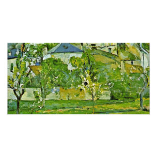 Orchard In Pontoise By Paul Cézanne (Best Quality) Customized Photo Card