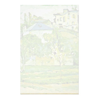 Orchard In Pontoise By Paul Cézanne (Best Quality) Custom Stationery
