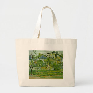Orchard in Pontoise by Paul Cezanne Large Tote Bag