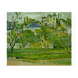 Orchard in Pontoise by Paul Cezanne Postcard