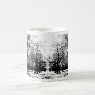Orchard in winter 2 mug