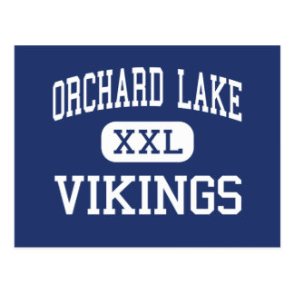 Orchard Lake Vikings Middle West Bloomfield Postcard