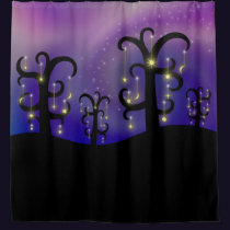 Orchard of Stars Shower Curtain