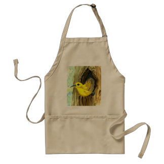 Orchard Oriole - watercolor pencil Adult Apron