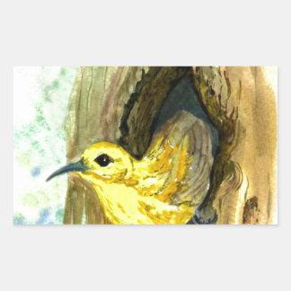 Orchard Oriole - watercolor pencil Rectangular Sticker