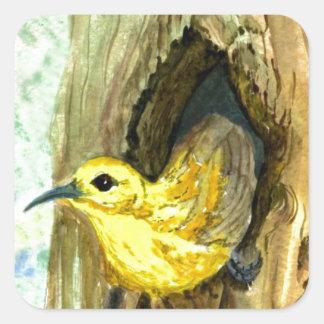 Orchard Oriole - watercolor pencil Square Sticker