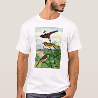 Orchard Orioles Vintage Painting T-Shirt