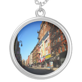 Orchard Street, Lower East Side, NYC Round Pendant Necklace