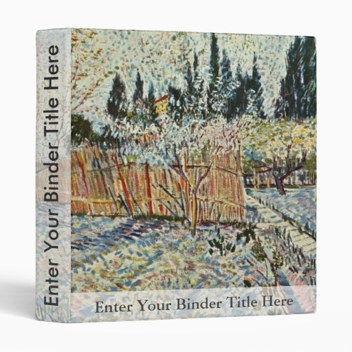 Orchard With Cypress By Vincent Van Gogh Binders