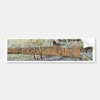 Orchard With Cypress By Vincent Van Gogh Bumper Stickers