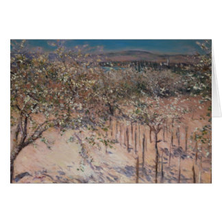 Orchard with Flowering Apple Trees, Colombes Card
