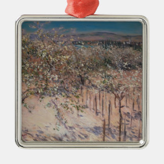 Orchard with Flowering Apple Trees, Colombes Metal Ornament