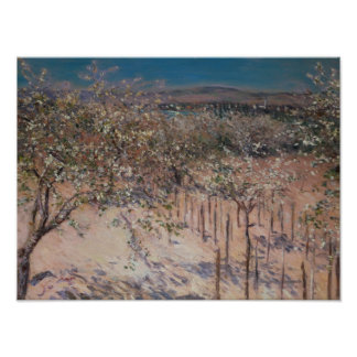 Orchard with Flowering Apple Trees, Colombes Poster
