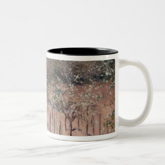 Orchard with Flowering Apple Trees, Colombes Two-Tone Coffee Mug