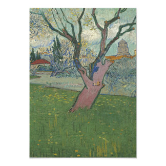 """Orchards in Blossom View of Arles by Van Gogh 5"""" X 7"""" Invitation Card"""