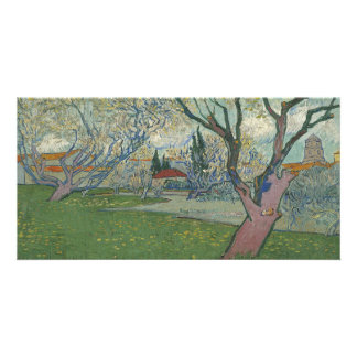 Orchards in Blossom View of Arles by Van Gogh Custom Photo Card