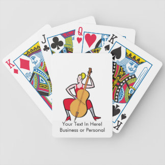 Orchestra bass player blonde female red dress.png bicycle playing cards