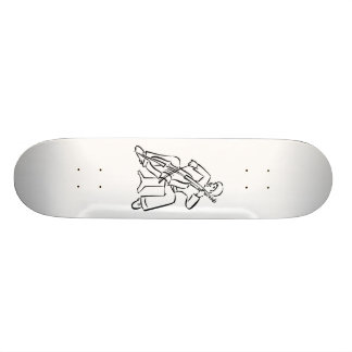 Orchestra Bass Player Man Outline Skateboard Deck