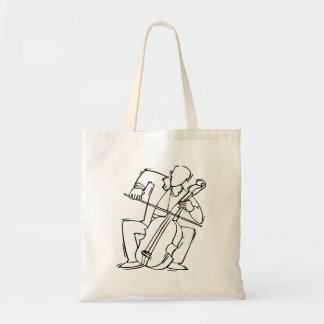 Orchestra Bass Player Stylized Outline Tote Bag