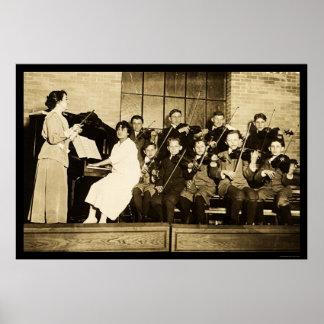 Orchestra Children 1910 Poster