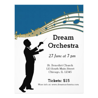 "Orchestra concert 8.5"" x 11"" flyer"