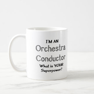 Orchestra conductor coffee mug