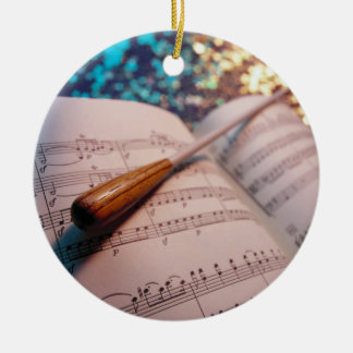 Orchestra Conductor Elements 3 Ceramic Ornament