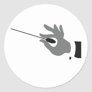 Orchestra Conductor Stickers Round Sticker