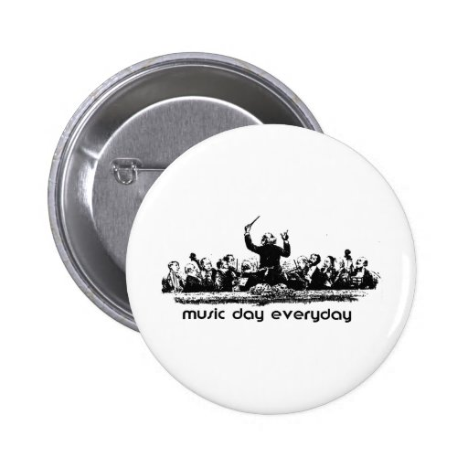 Orchestra design for Music Day! Button