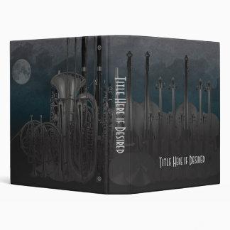 Orchestra Instrument Nighttime Skyline 3 Ring Binder