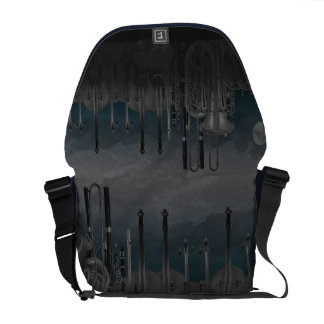 Orchestra Instrument Nighttime Skyline Messenger Bags