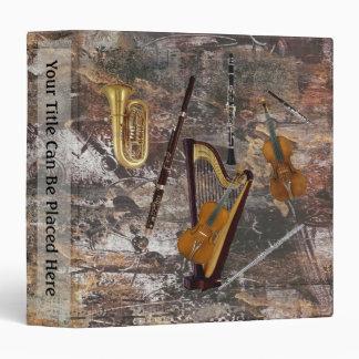 Orchestra Instruments 3 Ring Binder