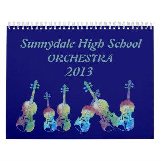Orchestra Instruments Calendar