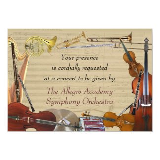Orchestra Instruments Concert Invitation