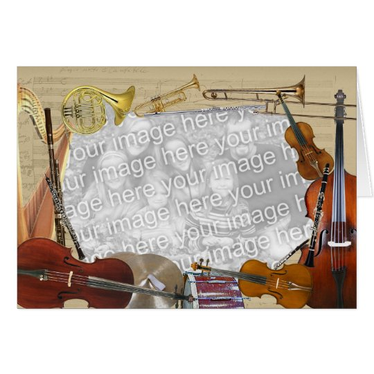 Orchestra Instruments Customizable Photo Frame Card
