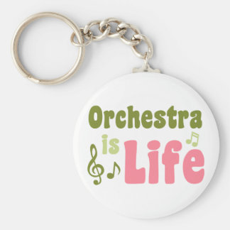 Orchestra is Life Basic Round Button Keychain