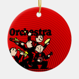 Orchestra Double-Sided Ceramic Round Christmas Ornament