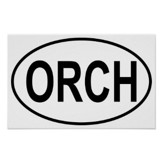 Orchestra Oval Posters