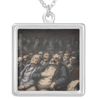 Orchestra Seat, c.1856 Silver Plated Necklace