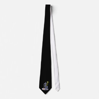 Orchestra Tuba Player Graphic, Seated Image Neck Tie