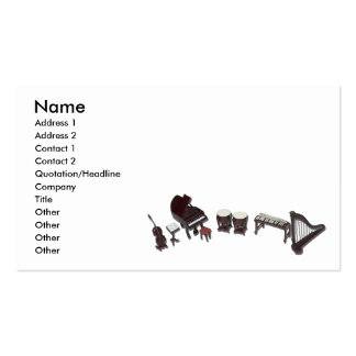 OrchestraInstruments121210, Name, Address 1, Ad... Double-Sided Standard Business Cards (Pack Of 100)