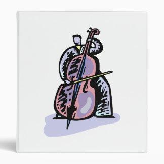 Orchestral Bass Player Image Graphic Design Binder