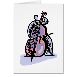 Orchestral Bass Player Image Graphic Design Card
